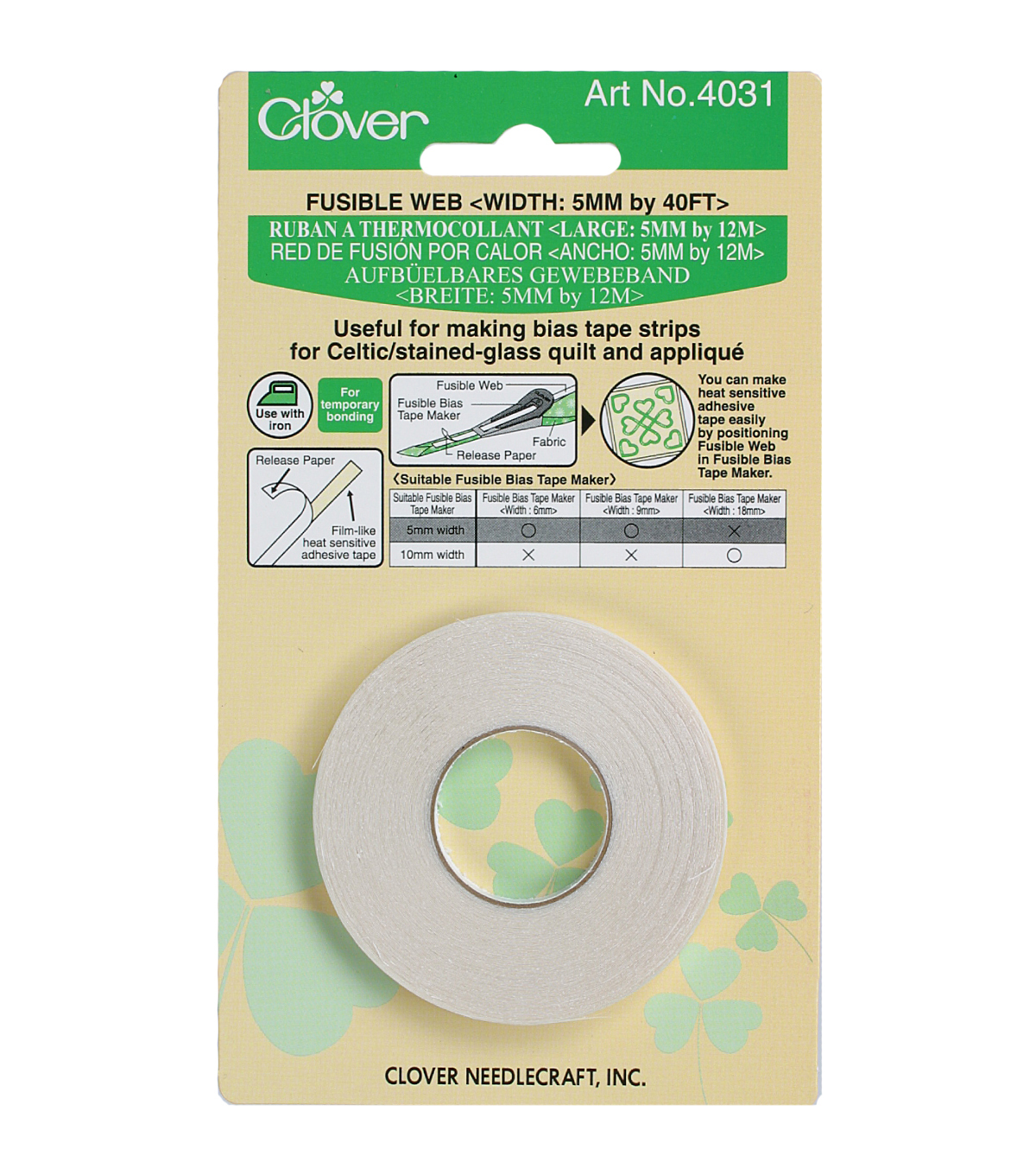 Clover Fusible Web for 6mm/9mm Bias Tape Makers