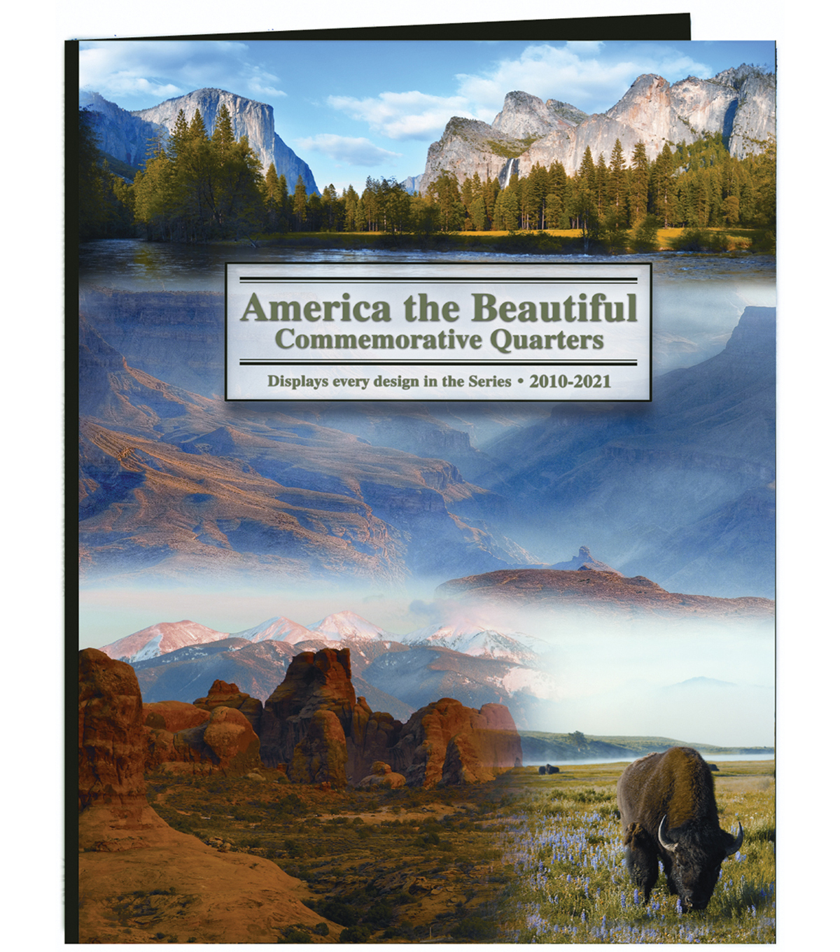 Littleton America The Beautiful Commemorative Quarter Folder-2010-2021