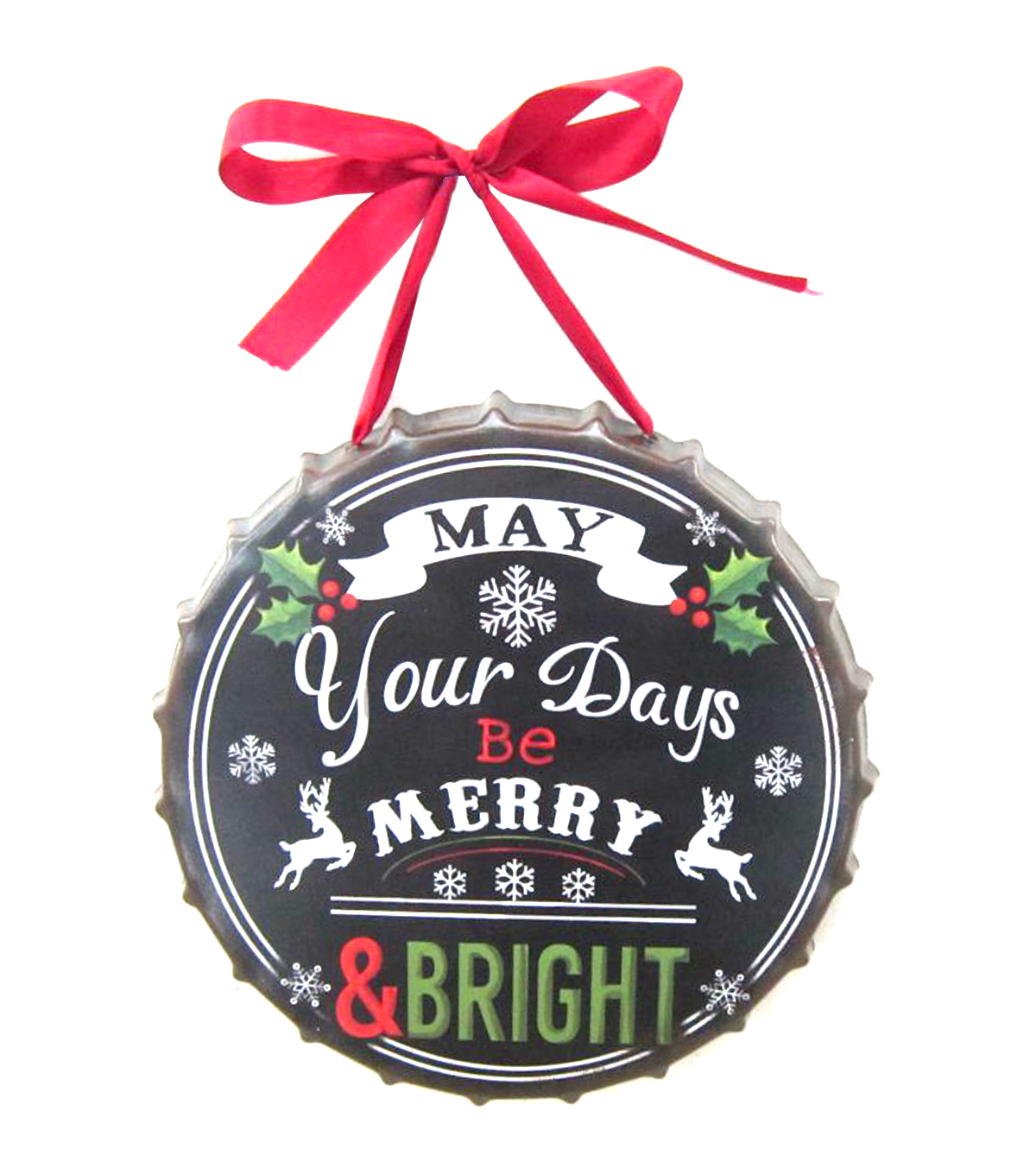 Maker\u0027s Holiday Metal Wall Decor-Merry & Bright