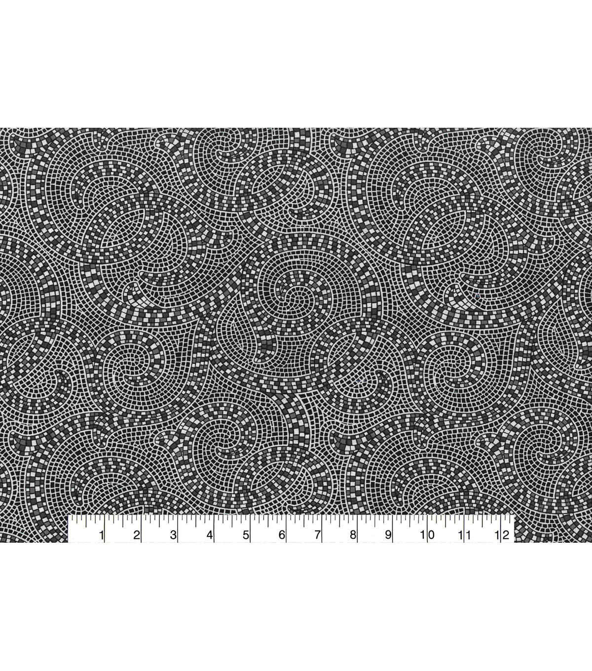 Keepsake Calico™ Cotton Fabric 43\u0022-Mosaic Black Gray