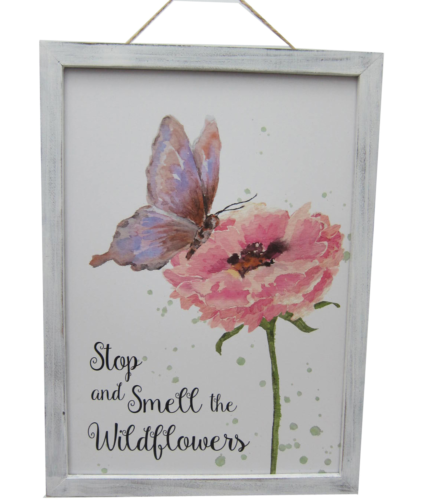 Wild Blooms Floral Wall Decor-Butterfly & Wildflower