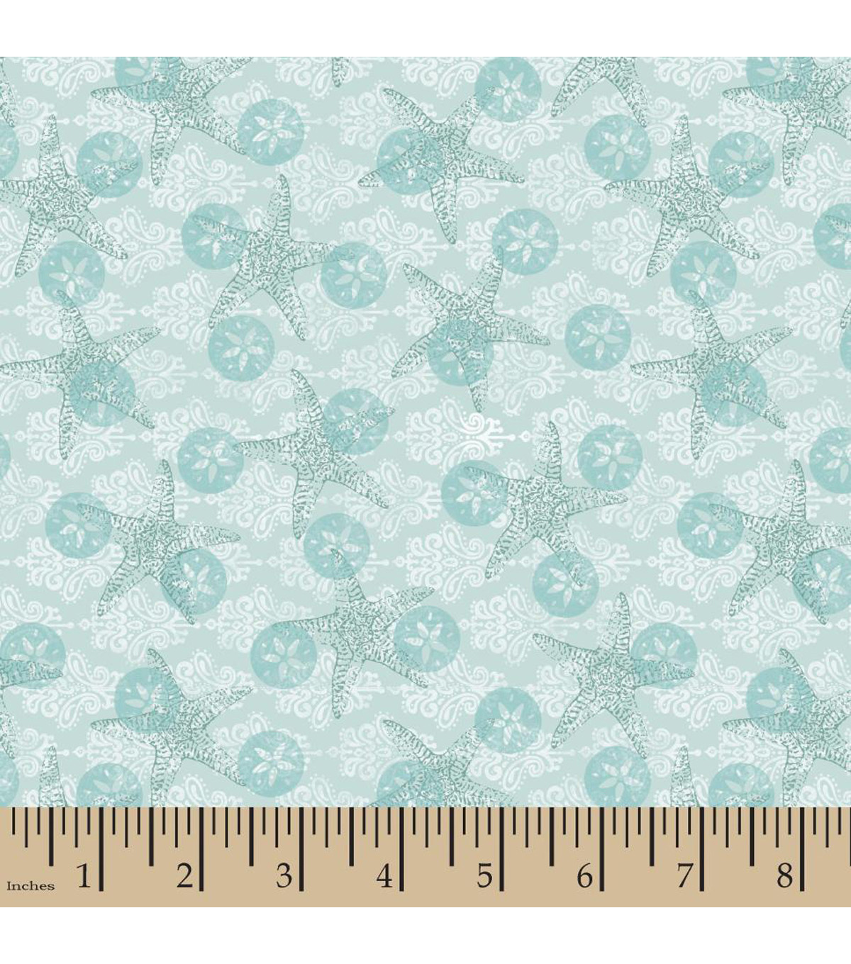 Susan Winget Cotton Fabric-Boho Coastal Starfish