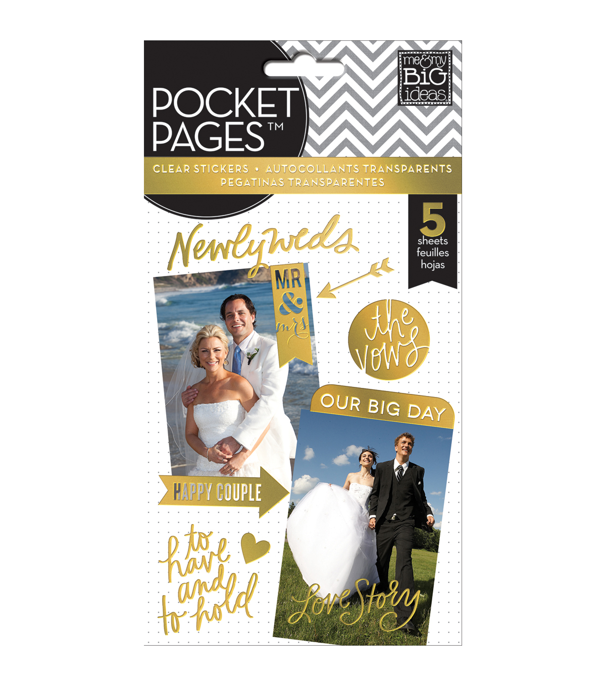 Me & My Big Ideas Pocket Pages Wedding Day Clear Stickers
