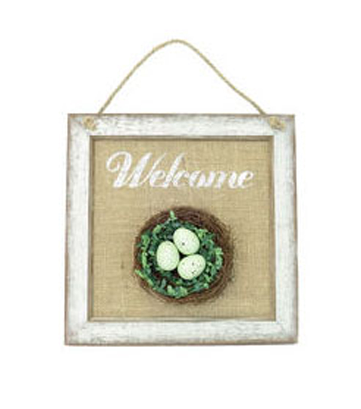 Easter Egg Nest Wall Decor-Welcome