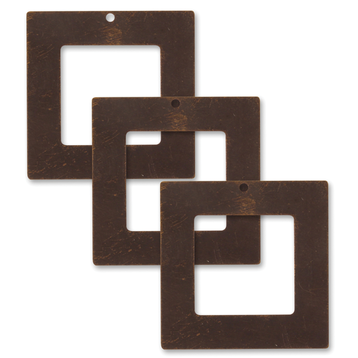 Square Frm-vintaj Metal Accent