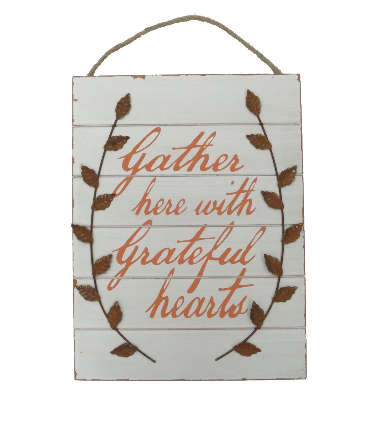 Art of Autumn Wall Decor-Ivory Gather Here With Grateful Hearts