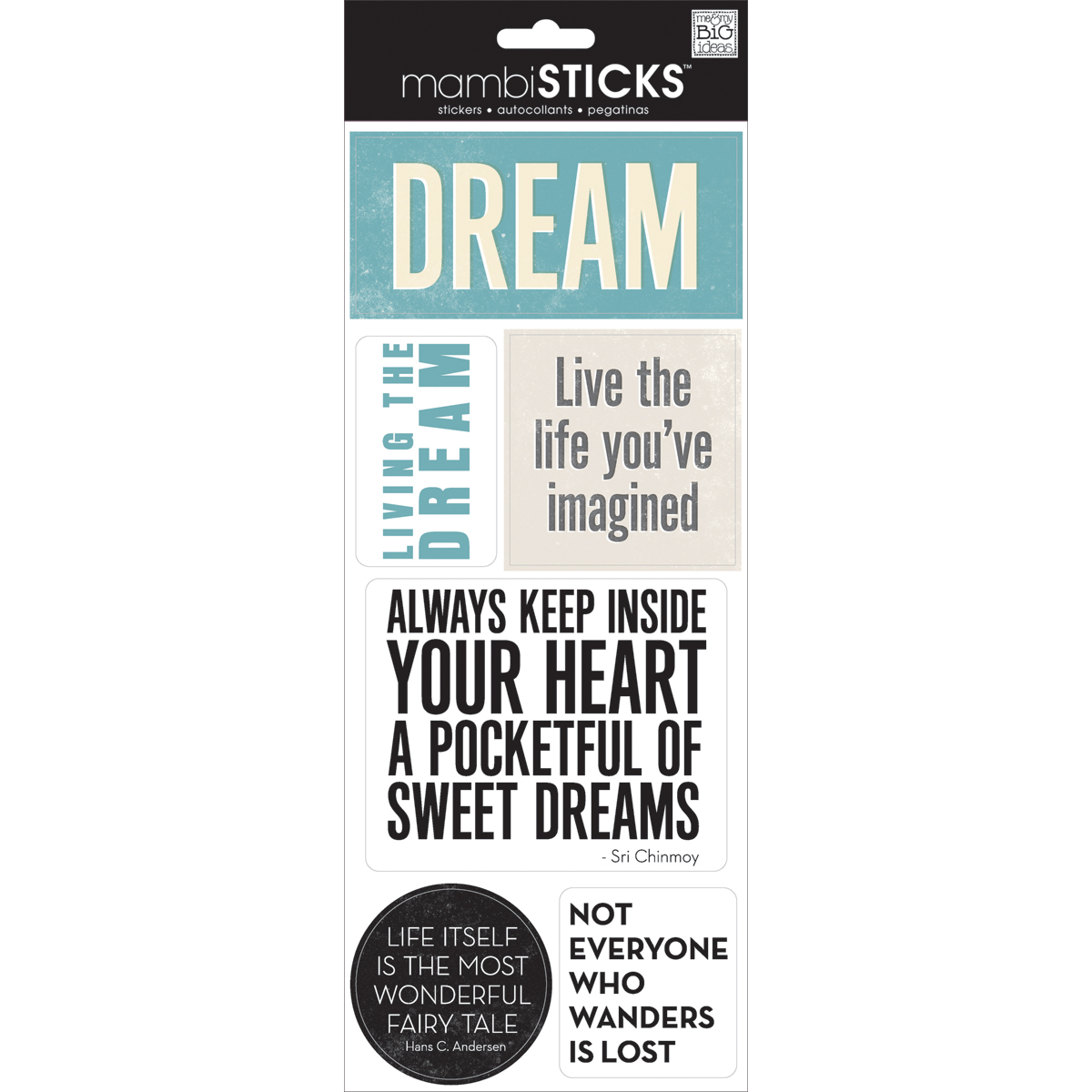 Me & My Big Ideas Sayings Stickers Dream