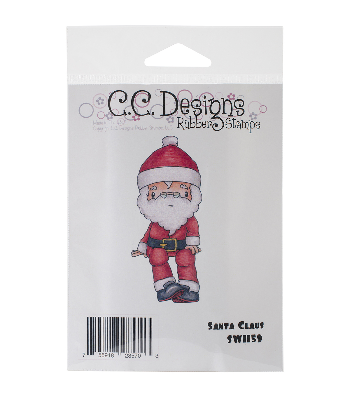"Swiss Pixie Cling Stamp 3.75""X1.5""-Santa Claus"