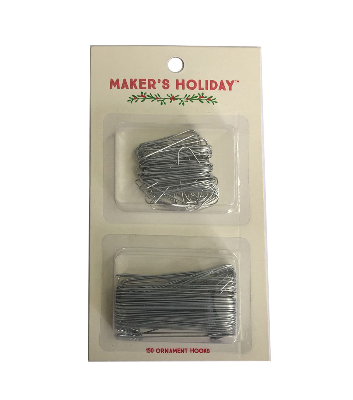 Maker\u0027s Holiday 150ct Ornament Hooks-Silver