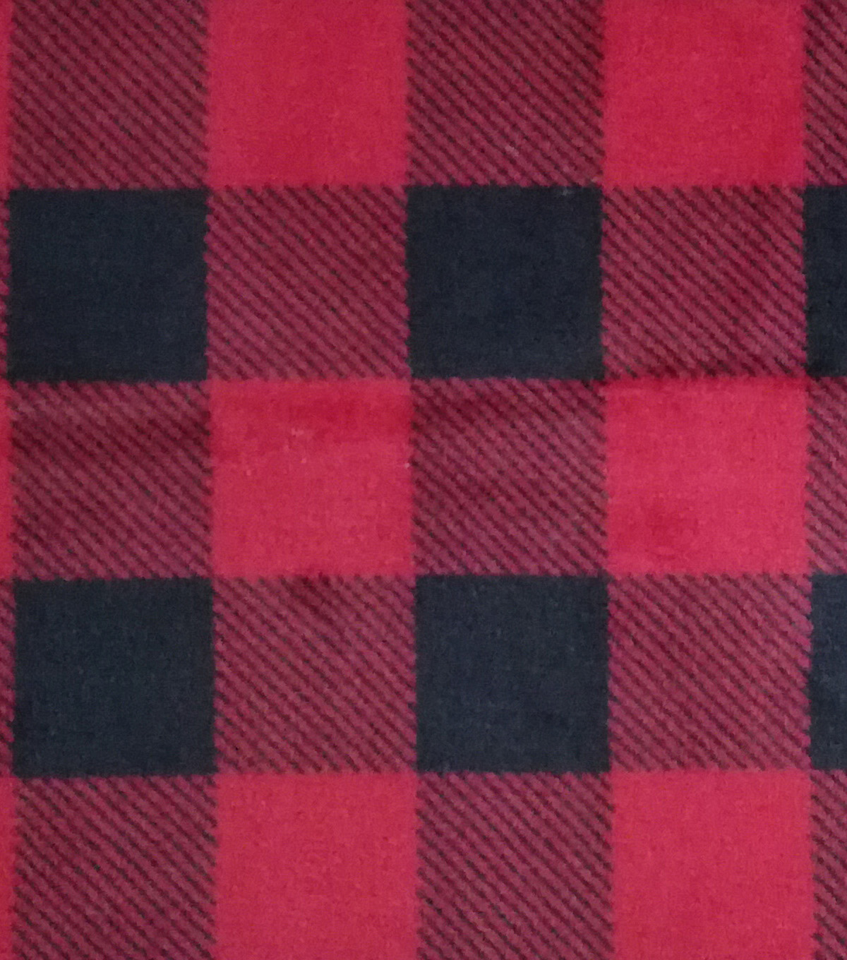 Sew Lush Fabric 57\u0022-Buffalo Check Red Black