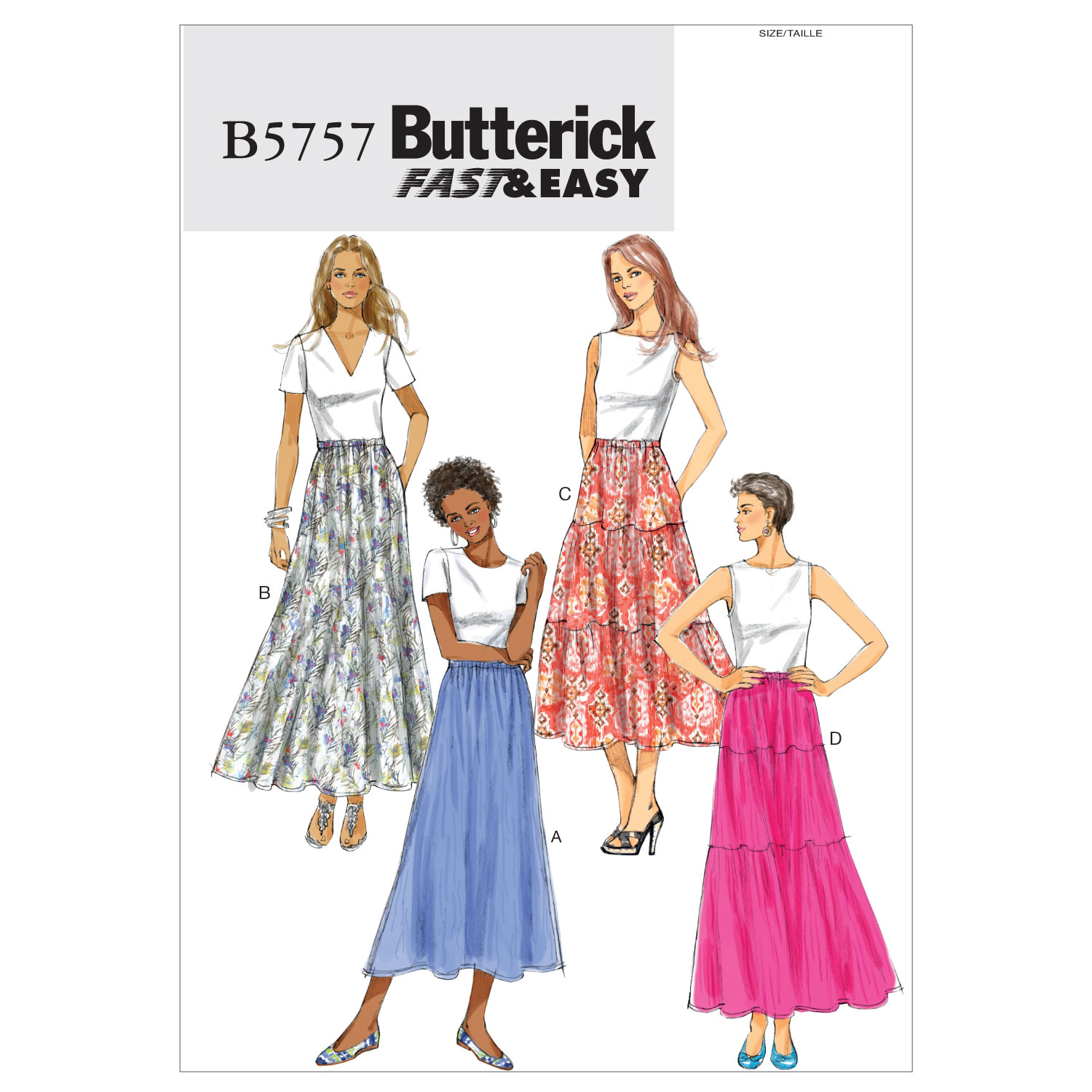 Butterick Misses Skirt-B5757