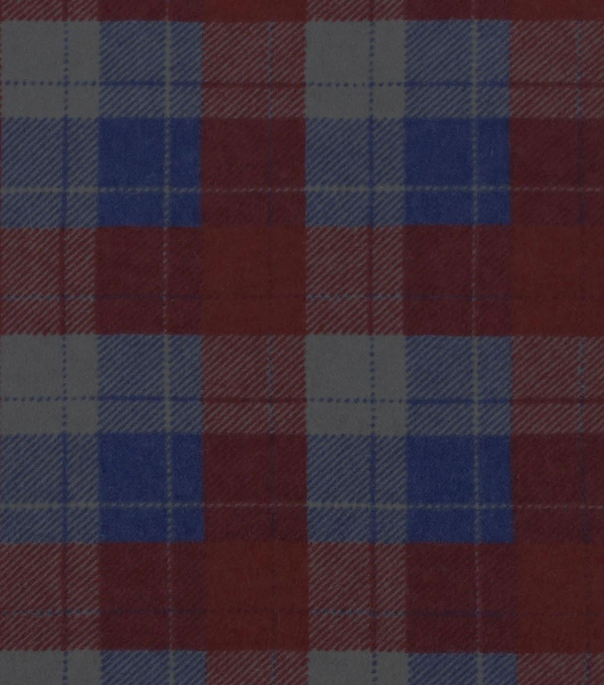 Snuggle Flannel Fabric 42\u0022-Red Plaid