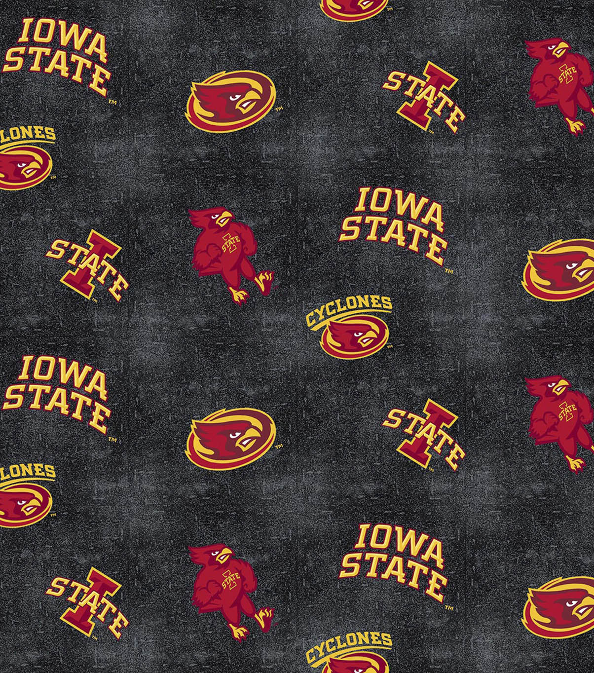 Iowa State University Cyclones Flannel Fabric 42\u0022-Distressed Logo