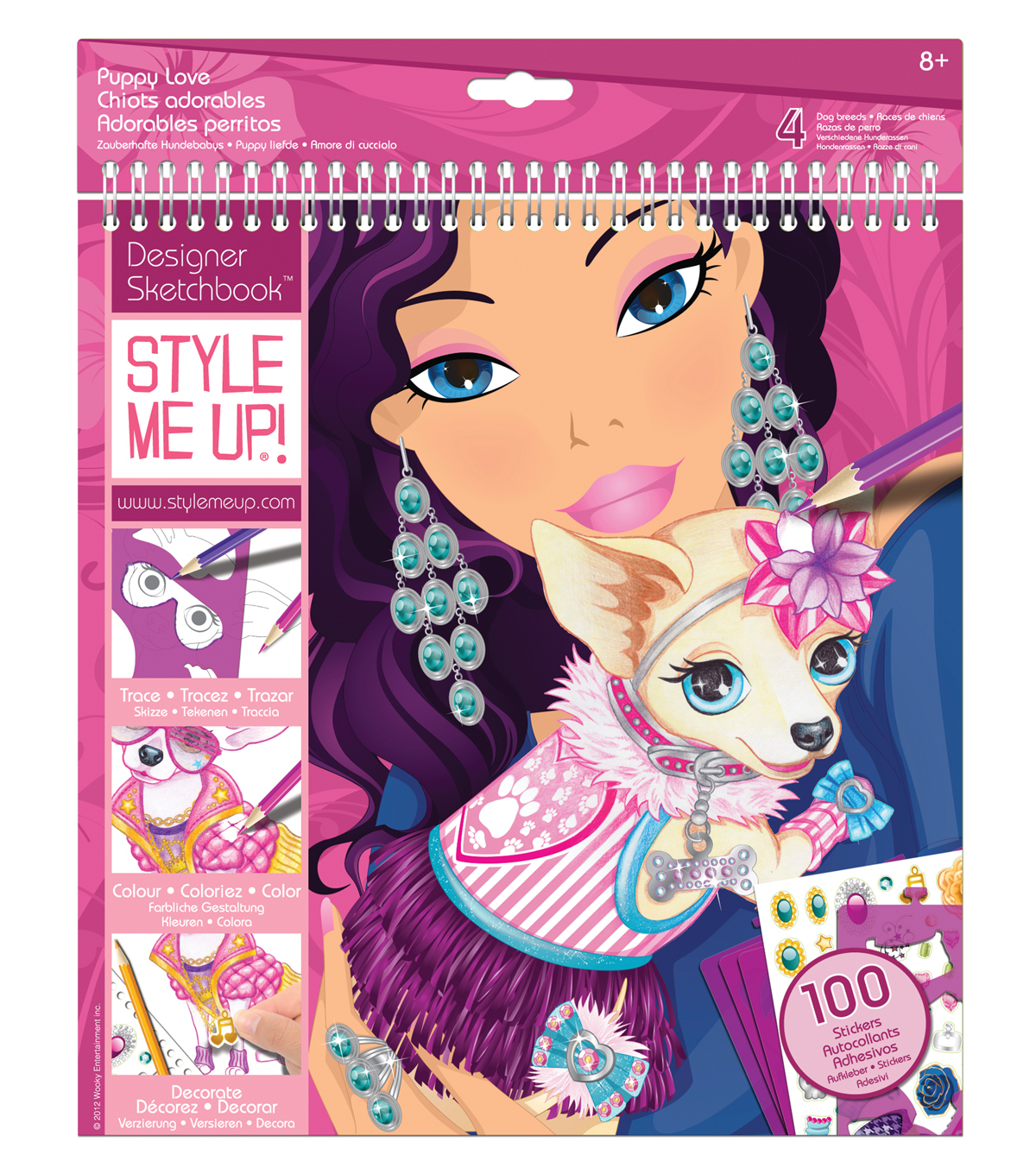 Style Me Up! Puppy Love Sketchbook