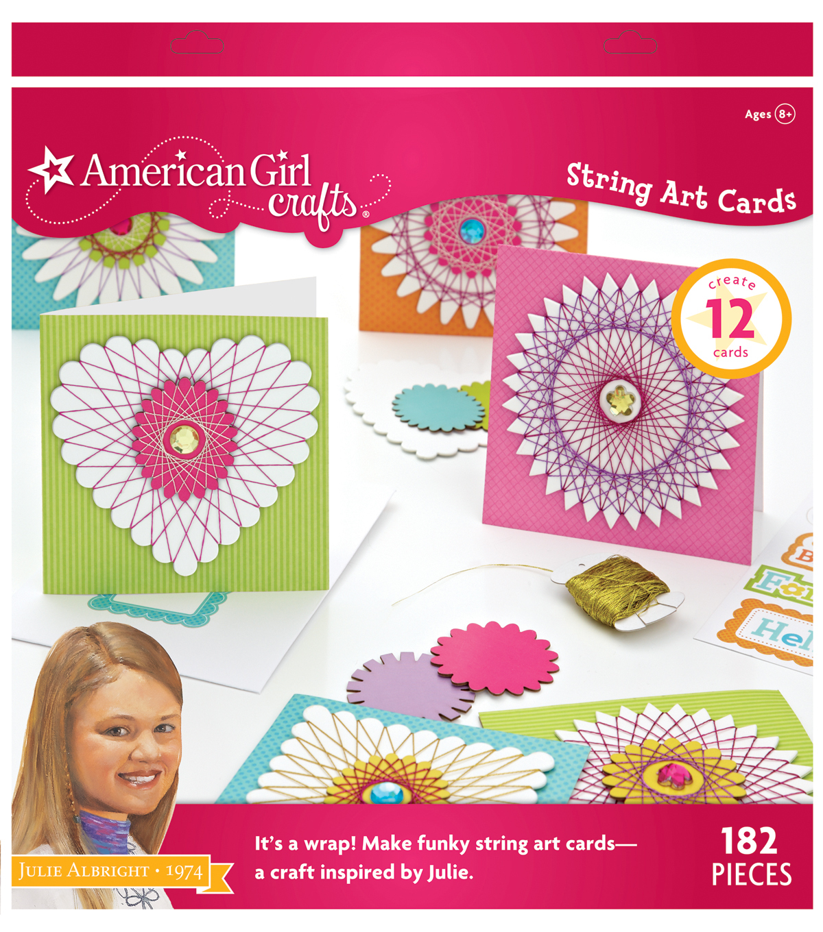 American Girl Crafts Julie Albright String Cards Art Kit