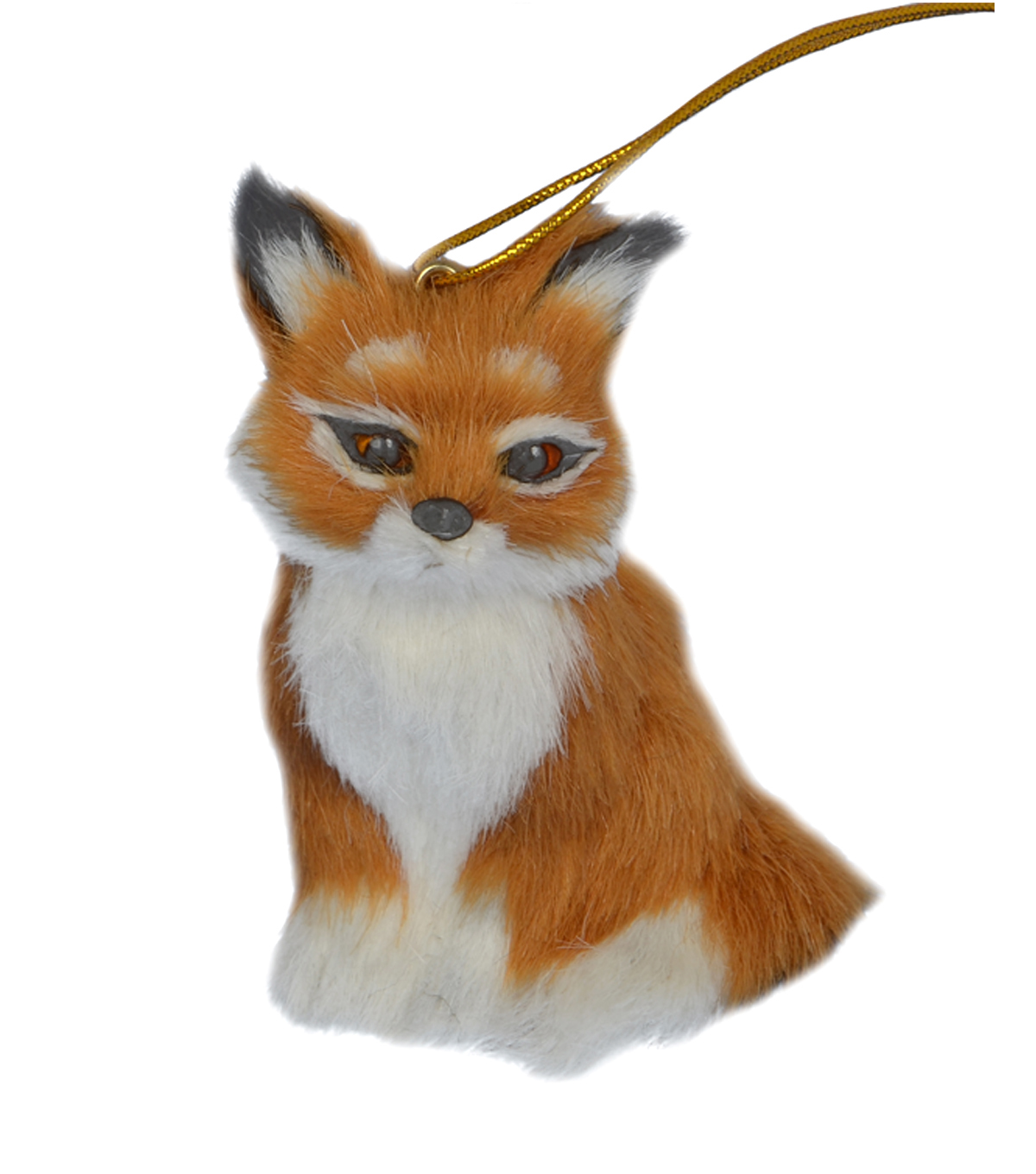 Holiday Cheer Furry Fox Ornament