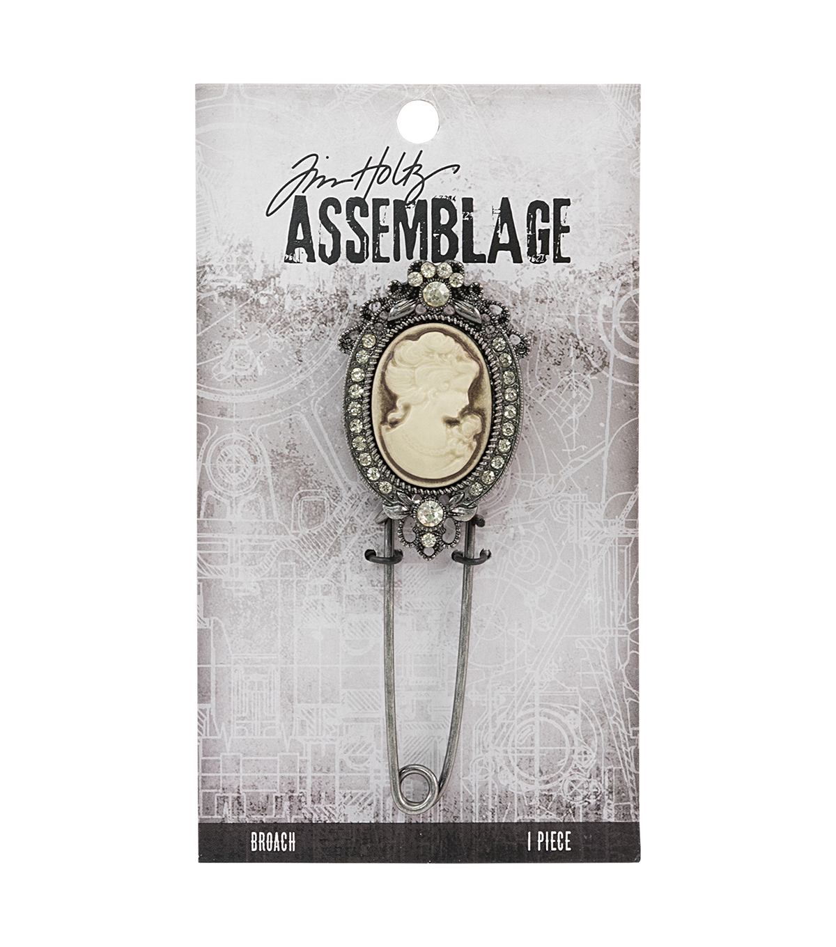 Tim Holtz® Assemblage 3.25''x1'' Cameo Broach