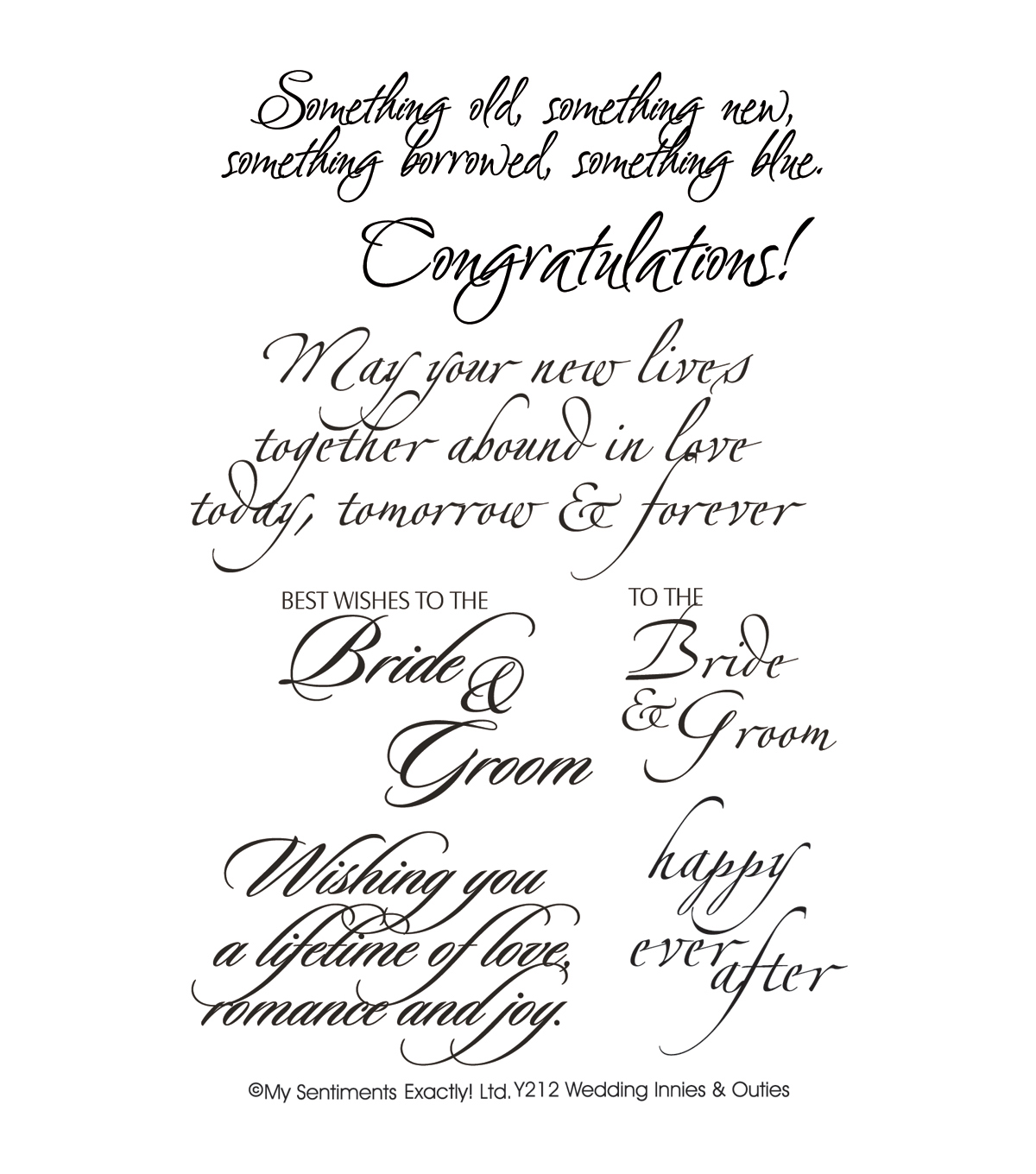 My Sentiments Exactly Clear Stamps 4\u0022X6\u0022 Sheet-Wedding