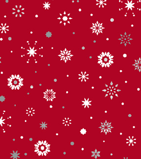 Christmas Cotton Fabric 43\u0022-Ditsy Metallic Snowflakes
