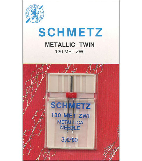 Schmetz Double Metallic Machine Needle 1/Pk-Size 3/90
