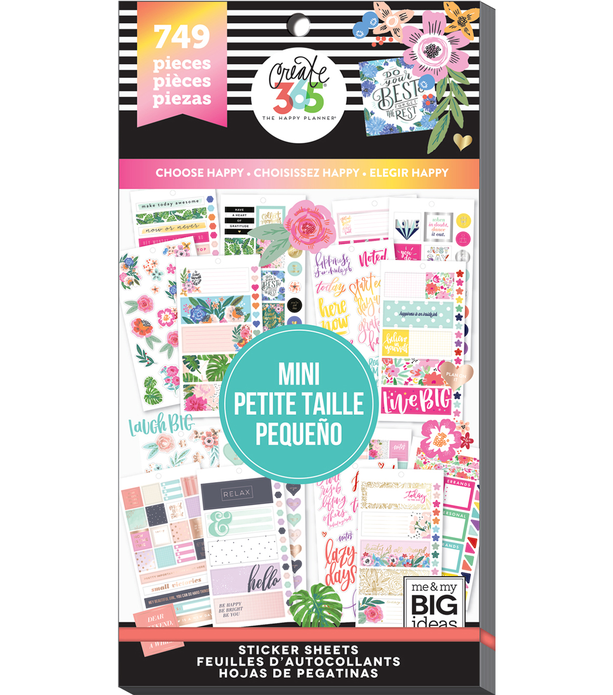 Me & My Big Ideas® Happy Planner™ Mini Stickers-Choose Happy