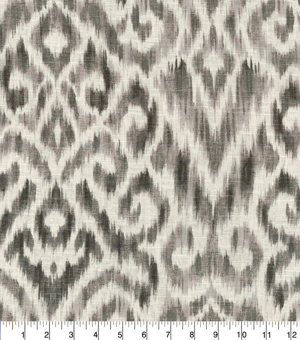 Williamsburg Upholstery Fabric 54\u0027\u0027-Pewter Thompson Ikat