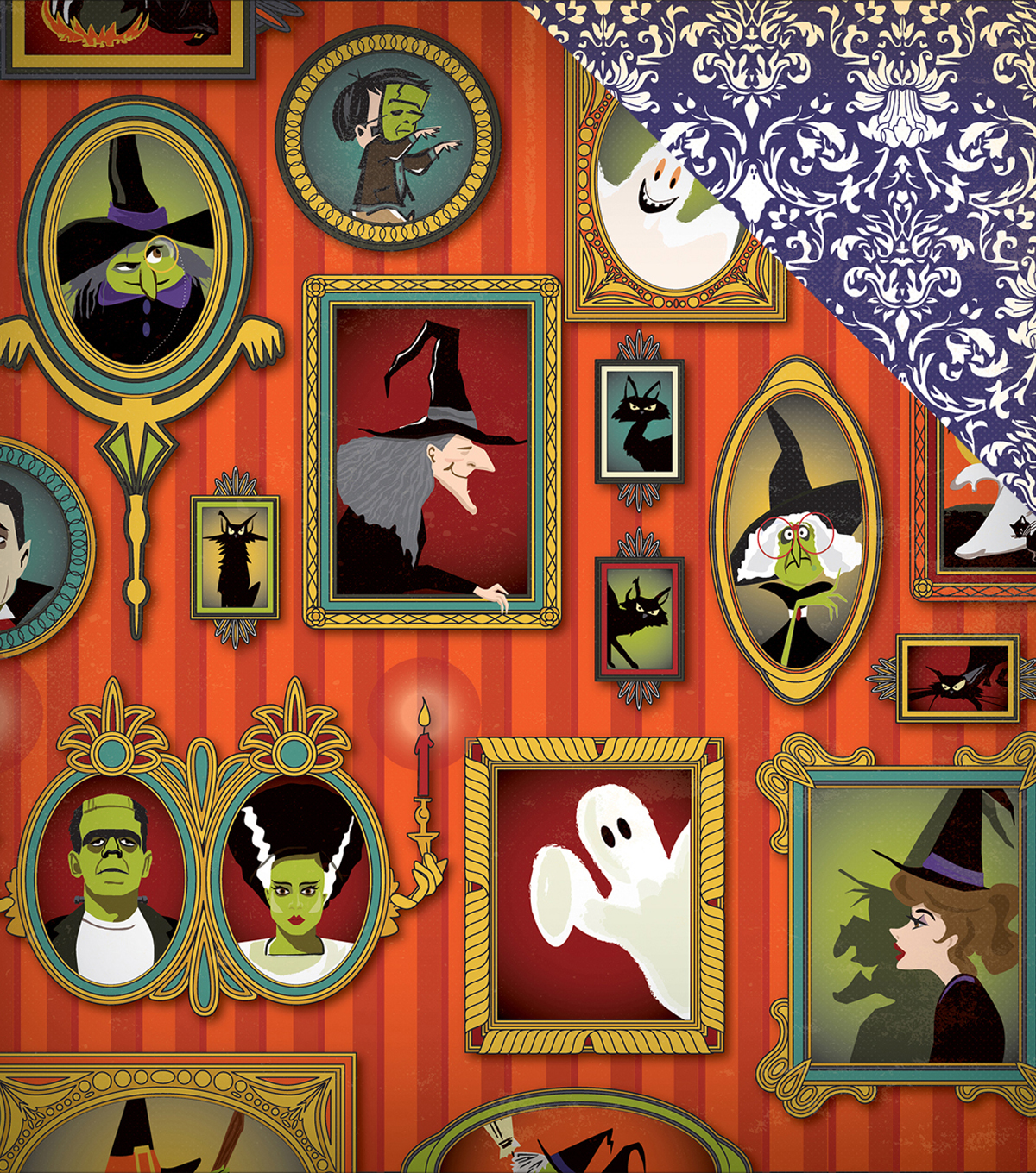 Haunted House Double-Sided Cardstock 12\u0022X12\u0022-Portrait Gallery