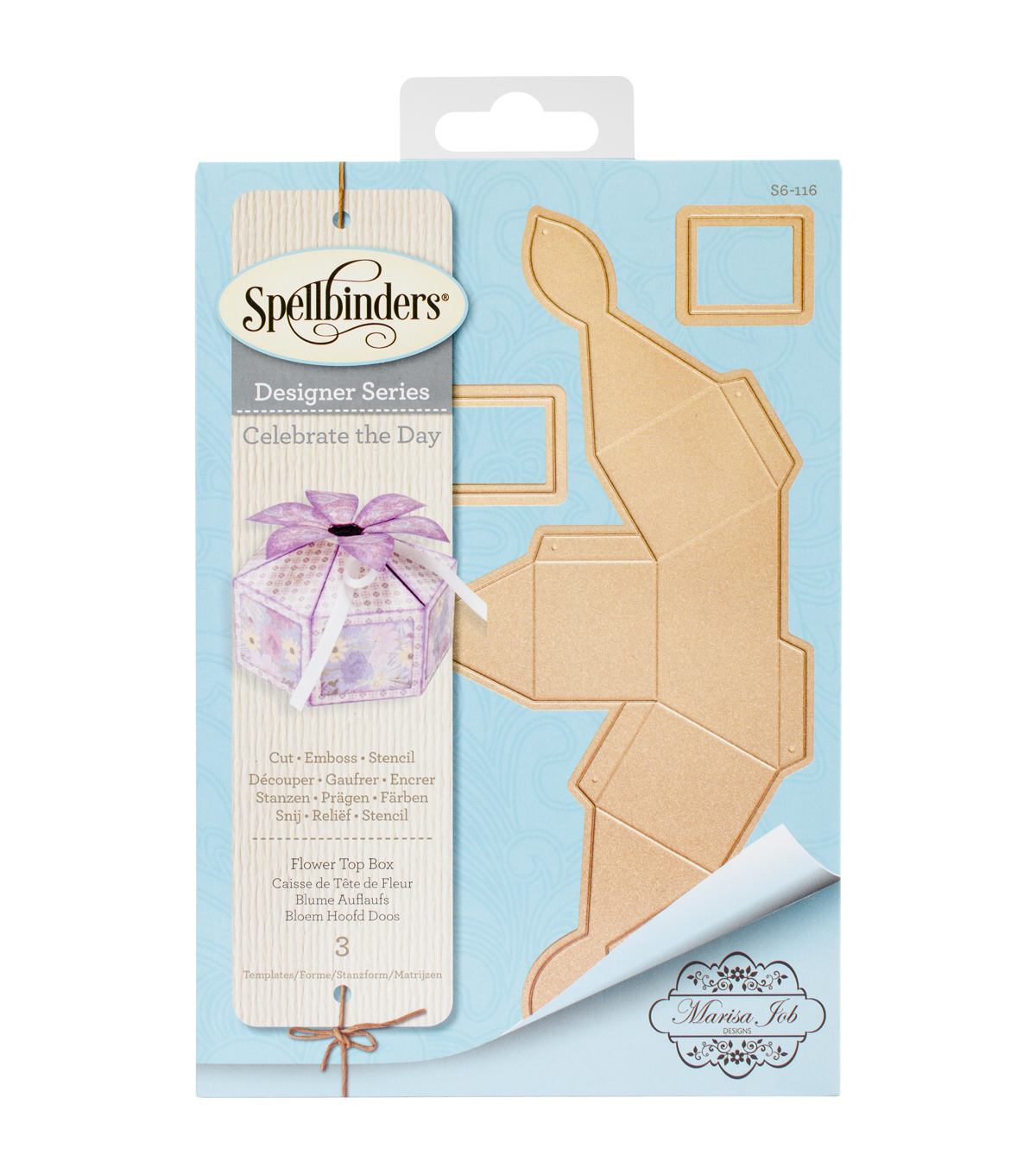 Spellbinders® Shapeabilities® Etched Die-Flower Top Box