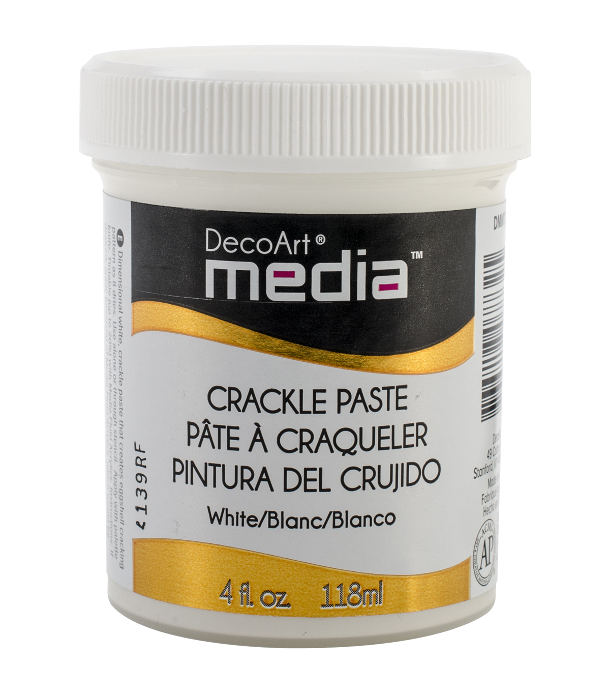 DecoArt Media Crackle Paste 4oz-White