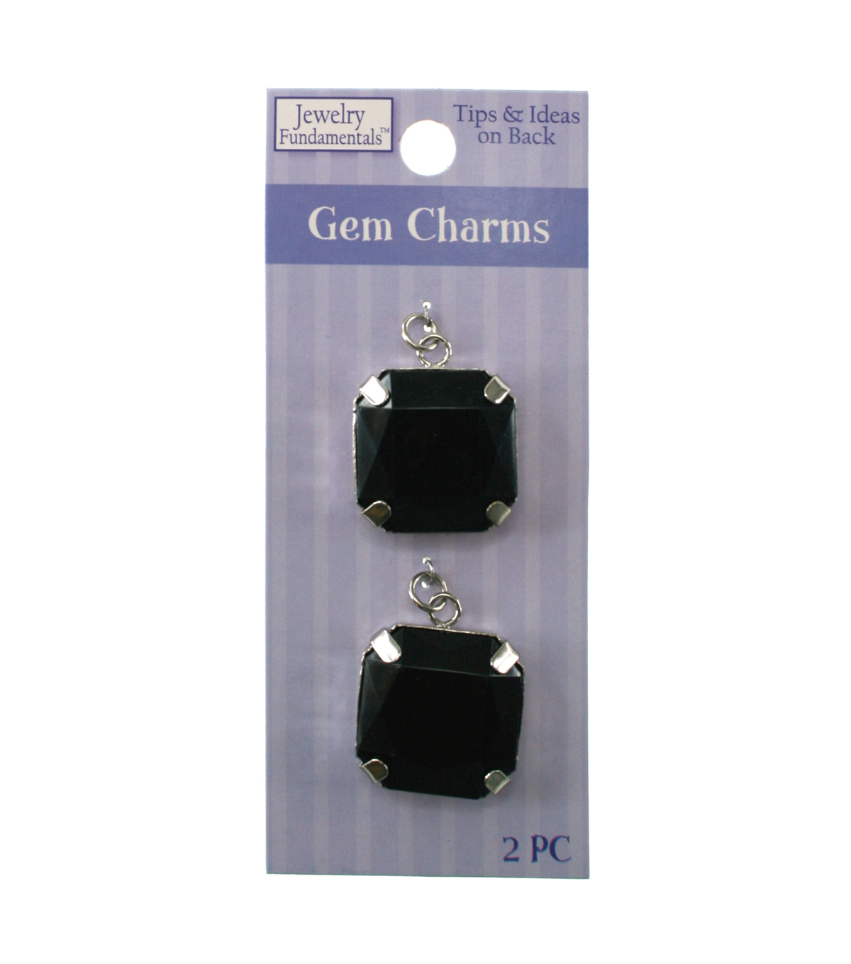 Jewelry Fundamentals Gem Charms - Black