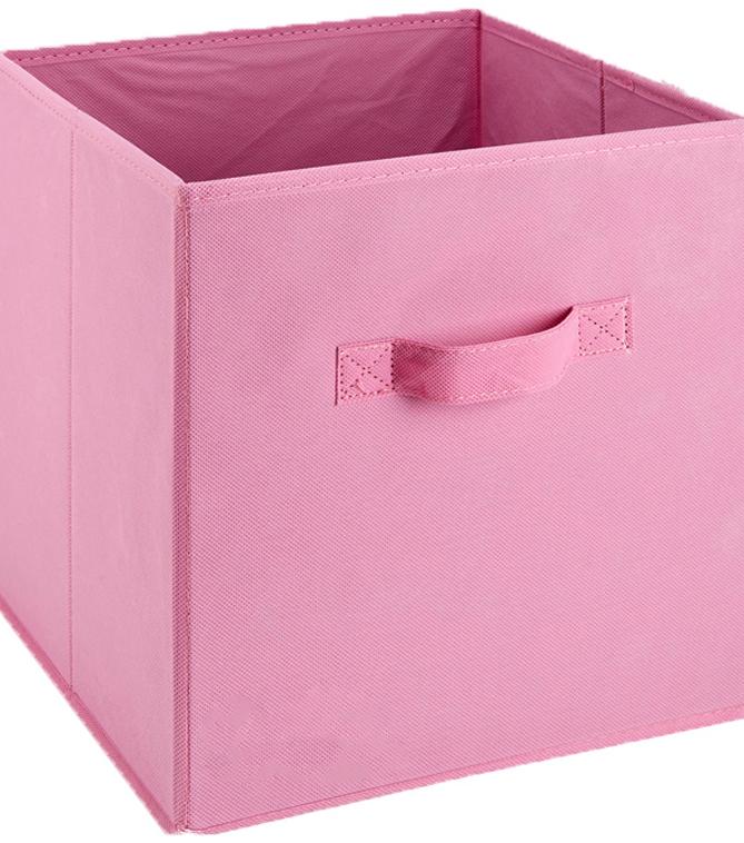 Nice Square Fabric Storage Cube 10.5\u0022X10.5\u0022X11\u0022 Pink