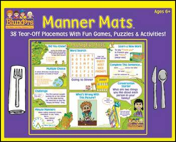 Blunders Manner Mats for ages 6 years and older.