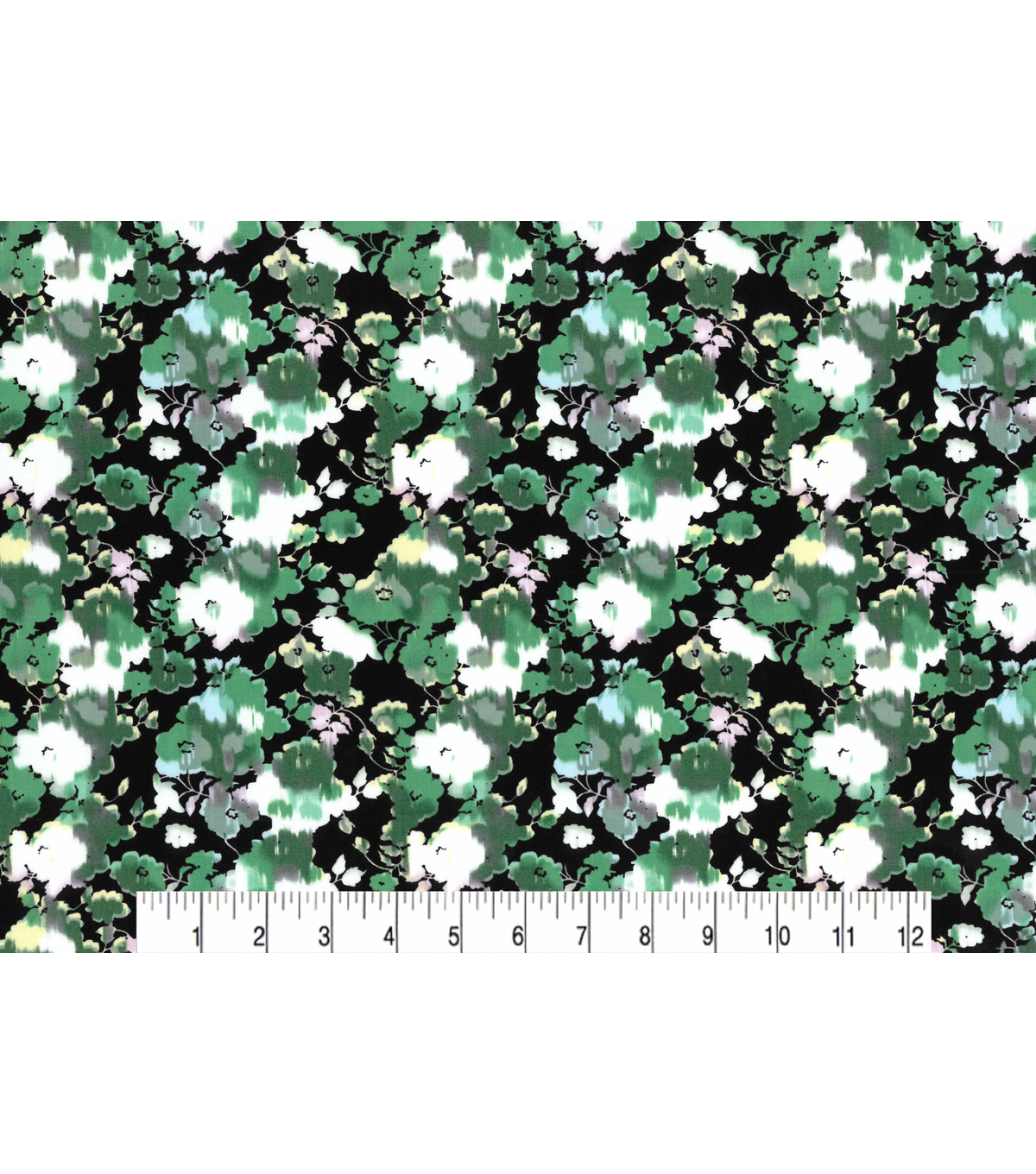 Two Daughters™ Modern Florals Cotton Fabric 43\u0022-Green Washed Flowers