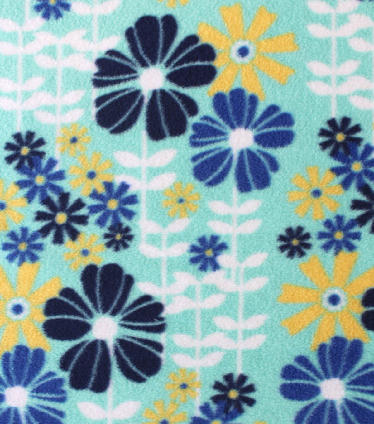 Anti-Pill Fleece Fabric Springtime Flowers