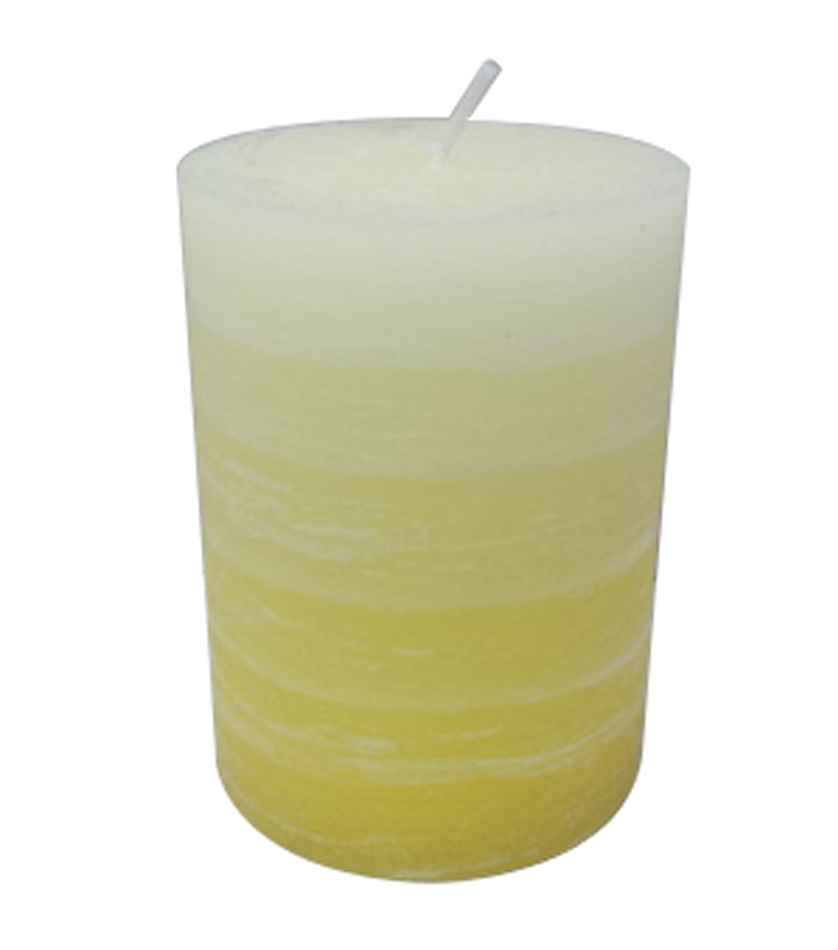 Summer Sol 3''x4'' Pillar Candle-Yellow Layered
