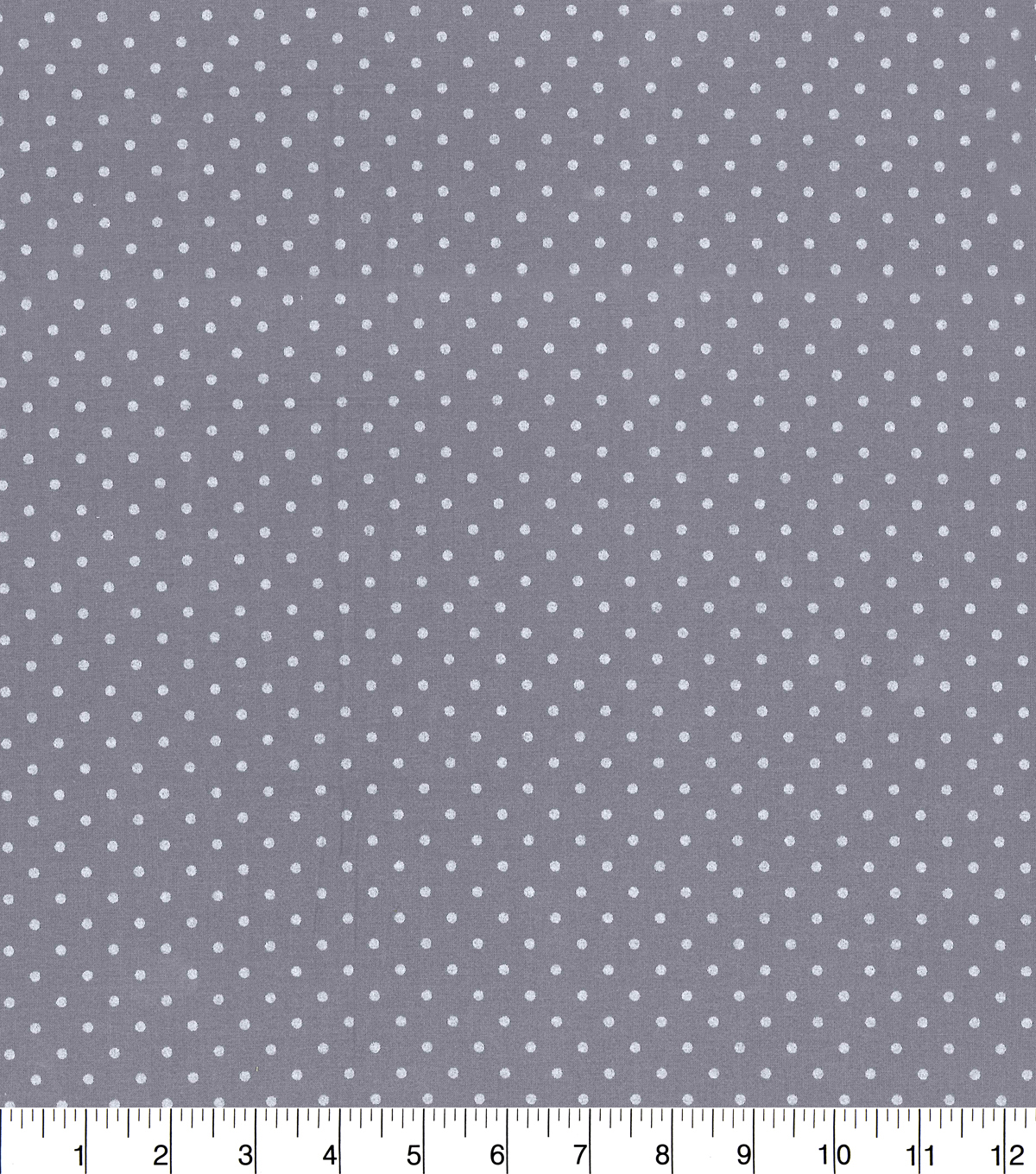 "Made in America Cotton Fabric 44""-Black Pearl Polka Dot"