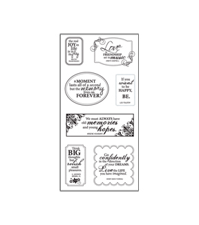 Fiskars Clear Stamps - All Around Quotes (4x8)