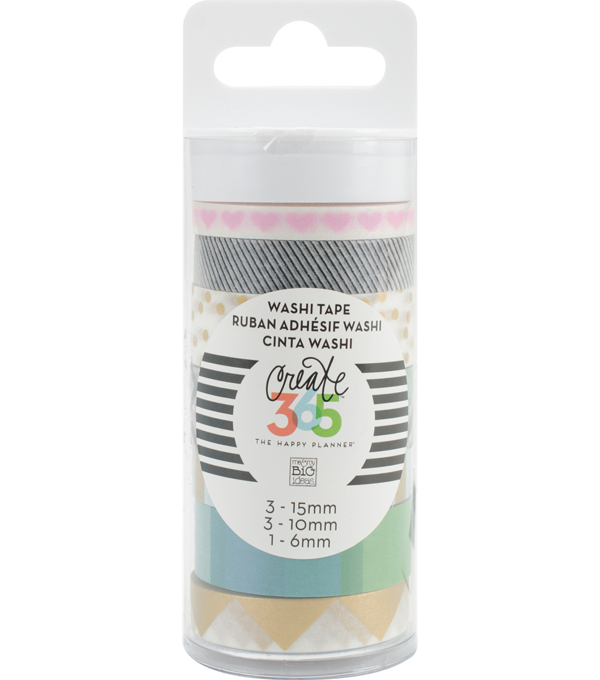 Create 365 Planner Washi Tape-Black & White