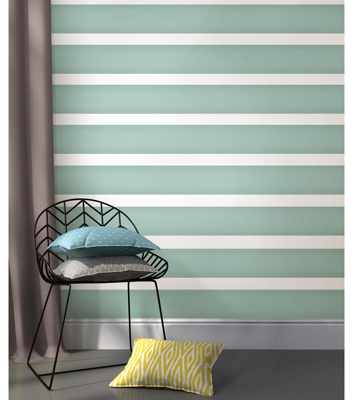 WallPops® Peel and Stick Stripe-Caribbean