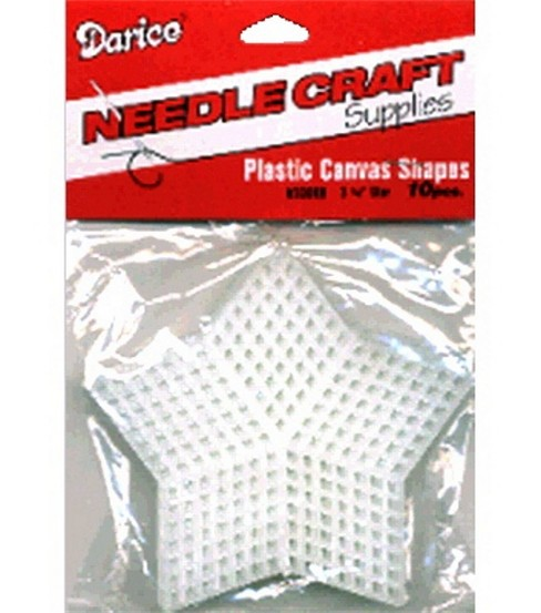 Plastic Canvas 7 Count 3-1/4\u0022 Stars