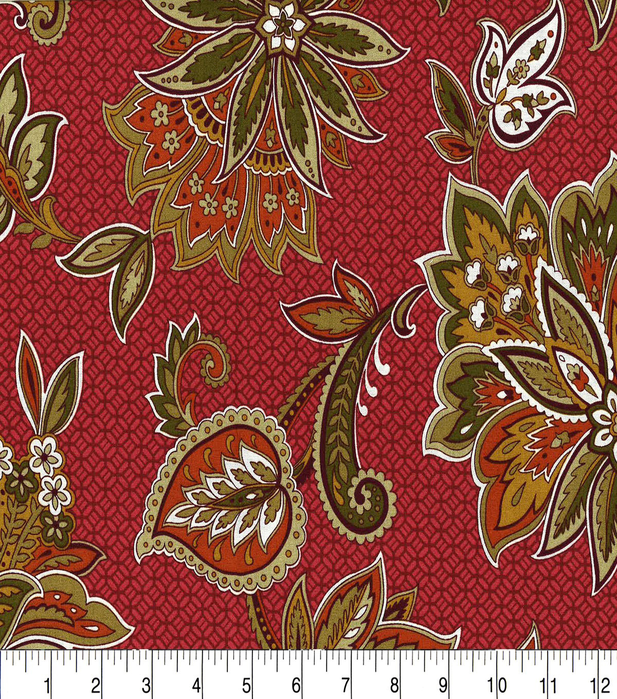 Keepsake Calico Cotton Fabric-Metabelle Garnet