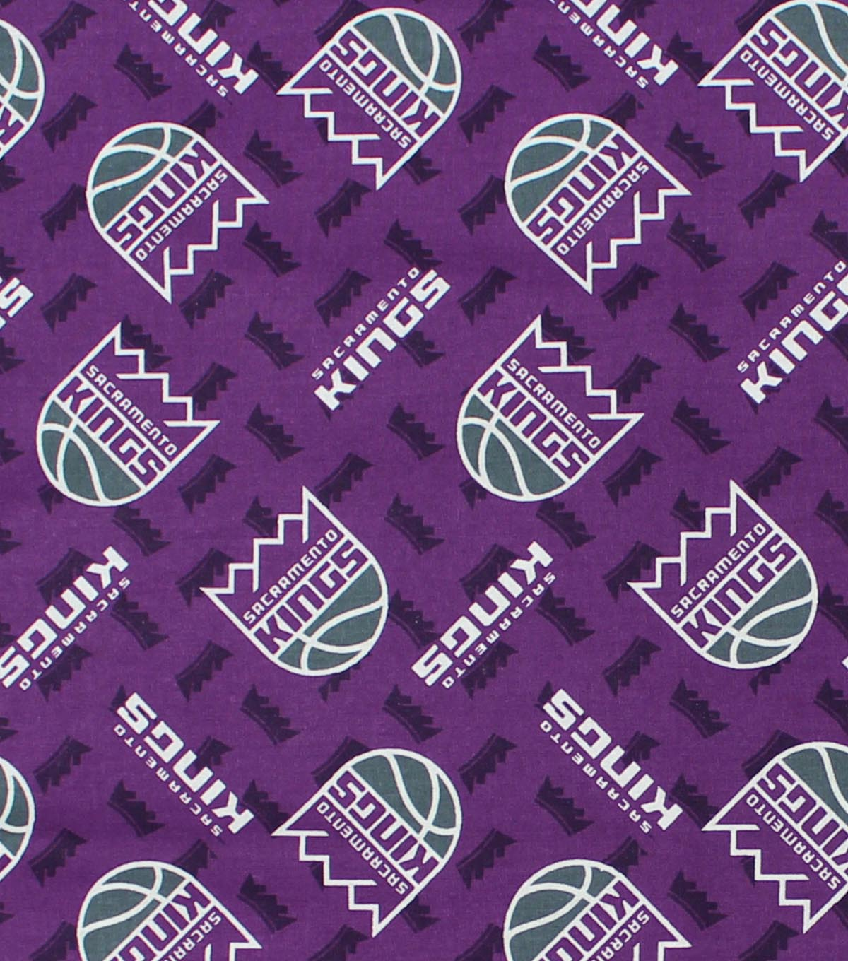 "Sacramento Kings Cotton Fabric 44""-Logo Toss"