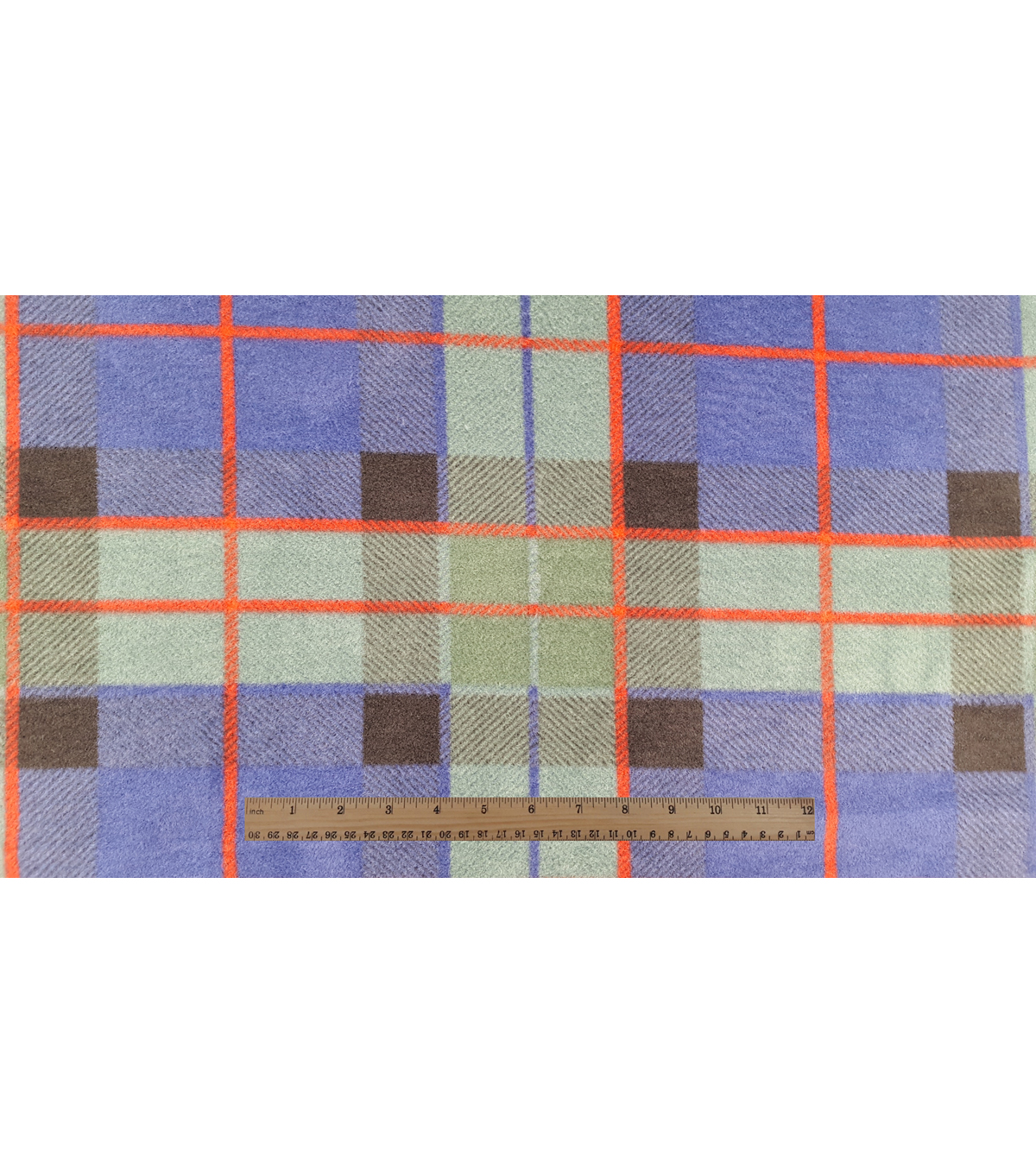 Anti-Pill Fleece Fabric 59\u0022-Oliver Navy Green Plaid