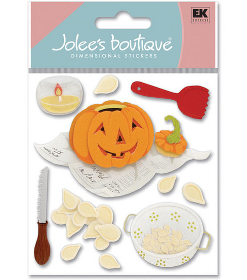 Jolee\u0027s Boutique Dimensional Stickers-Pumpkin Carving