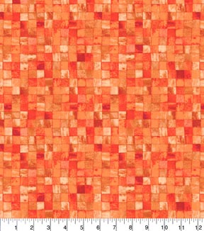 Keepsake Calico™ Cotton Fabric 43\u0022-Orange Mosaic