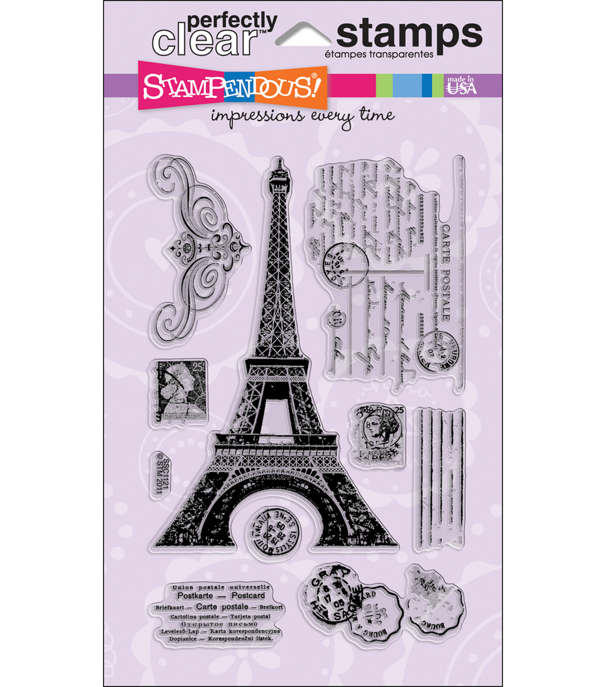 "Stampendous Perfectly Clear Stamps 4""X6"" Sheet-Eiffel Tower"