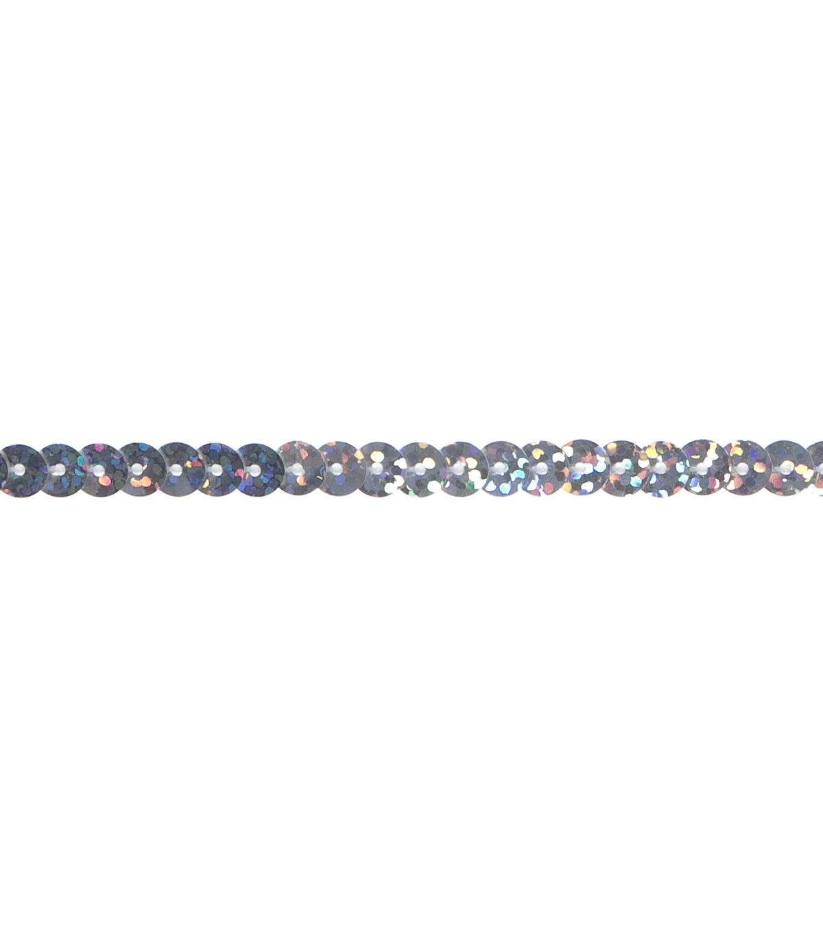 Single Sequin Holographic Silver 3 Yds Apparel Trim
