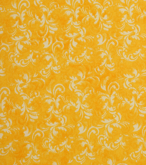 Keepsake Calico™ Cotton Fabric 43\u0022-Daffodil Textured Scroll