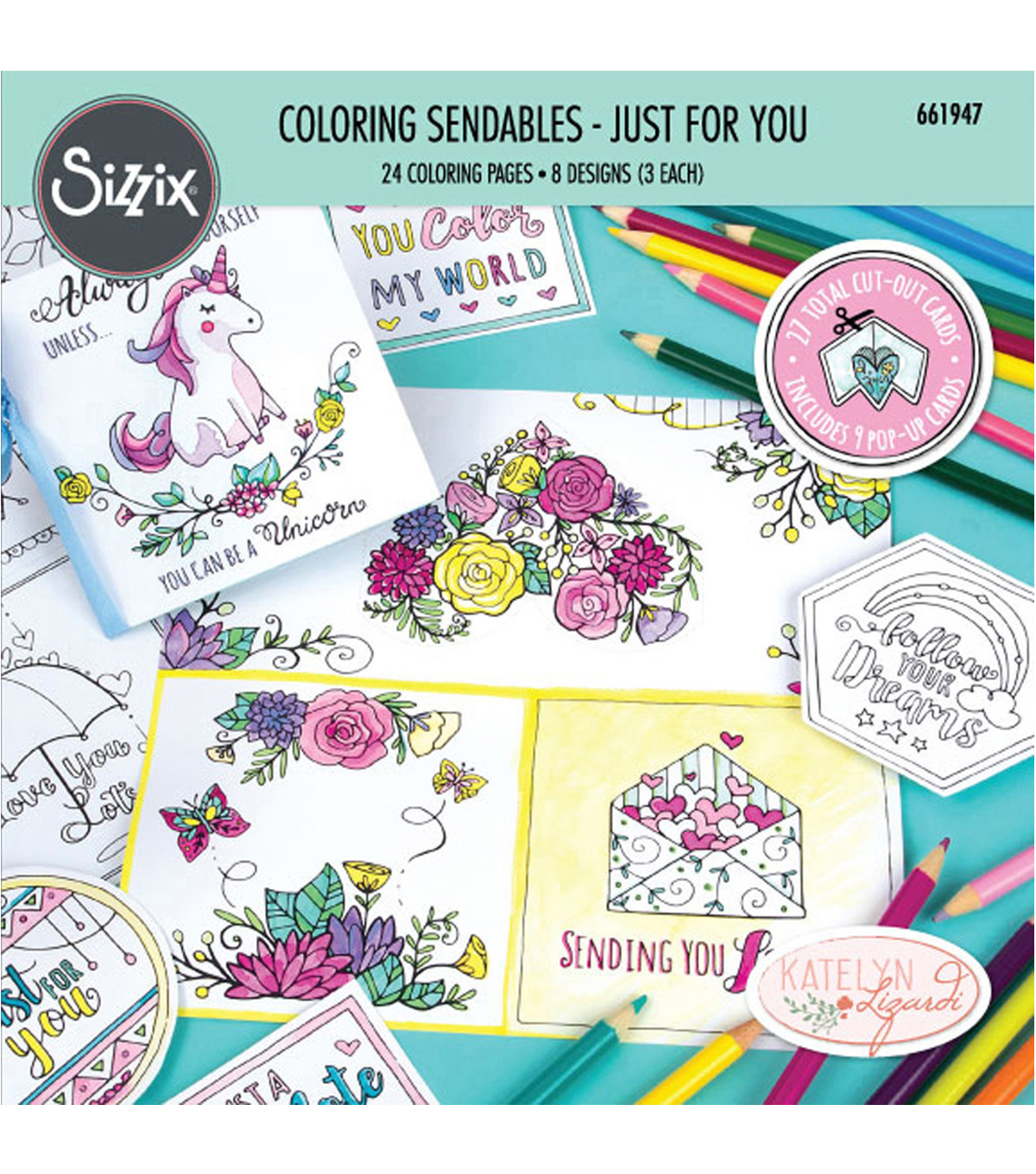 Sizzix® Katelyn Lizardi Coloring Sendables Book-Just For You