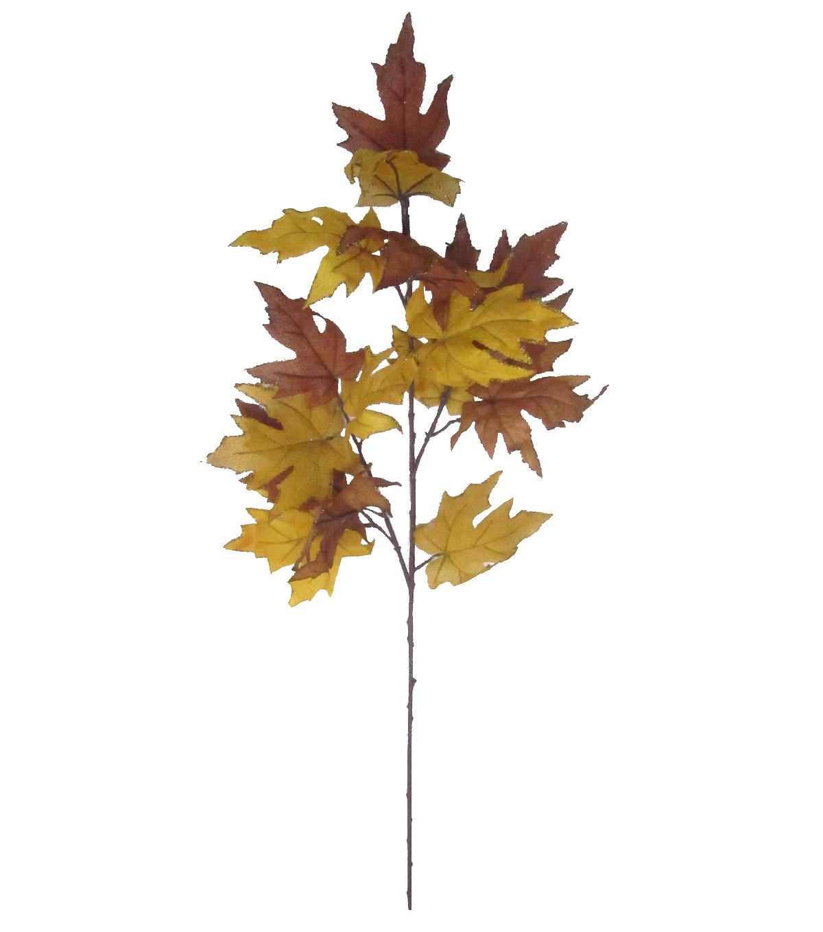 Blooming Autumn 40\u0027\u0027 Maple Leaves Spray-Yellow & Brown